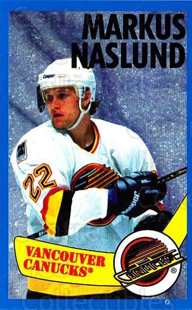 1996-97 Panini Stickers #296 Markus Naslund<br/>4 In Stock - $1.00 each - <a href=https://centericecollectibles.foxycart.com/cart?name=1996-97%20Panini%20Stickers%20%23296%20Markus%20Naslund...&quantity_max=4&price=$1.00&code=157232 class=foxycart> Buy it now! </a>