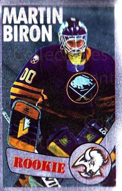 1996-97 Panini Stickers #299 Martin Biron<br/>4 In Stock - $1.00 each - <a href=https://centericecollectibles.foxycart.com/cart?name=1996-97%20Panini%20Stickers%20%23299%20Martin%20Biron...&quantity_max=4&price=$1.00&code=157235 class=foxycart> Buy it now! </a>