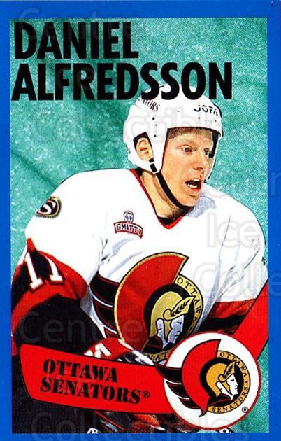 1996-97 Panini Stickers #46 Daniel Alfredsson<br/>6 In Stock - $1.00 each - <a href=https://centericecollectibles.foxycart.com/cart?name=1996-97%20Panini%20Stickers%20%2346%20Daniel%20Alfredss...&quantity_max=6&price=$1.00&code=157259 class=foxycart> Buy it now! </a>