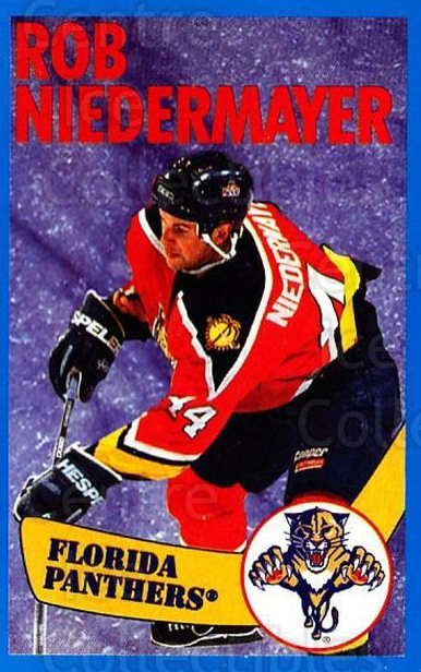 1996-97 Panini Stickers #72 Rob Niedermayer<br/>5 In Stock - $1.00 each - <a href=https://centericecollectibles.foxycart.com/cart?name=1996-97%20Panini%20Stickers%20%2372%20Rob%20Niedermayer...&quantity_max=5&price=$1.00&code=157286 class=foxycart> Buy it now! </a>