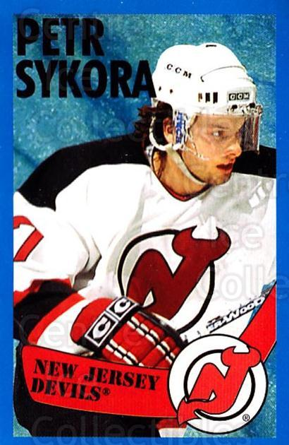 1996-97 Panini Stickers #81 Petr Sykora<br/>6 In Stock - $1.00 each - <a href=https://centericecollectibles.foxycart.com/cart?name=1996-97%20Panini%20Stickers%20%2381%20Petr%20Sykora...&quantity_max=6&price=$1.00&code=157295 class=foxycart> Buy it now! </a>