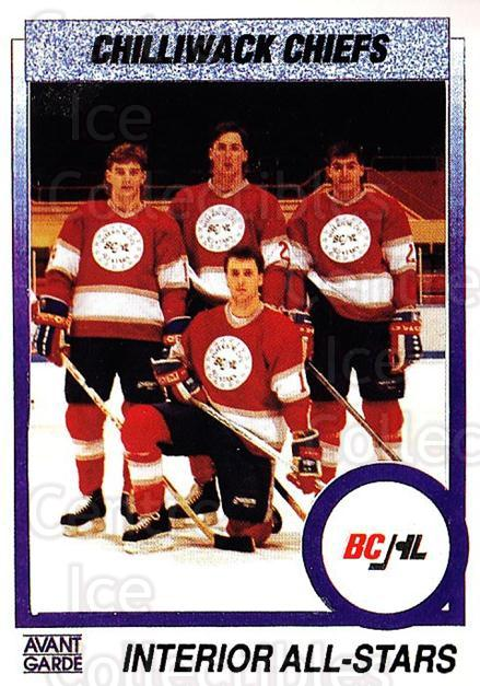 1991-92 British Columbia Junior Hockey League #156 Wayne Anchikoski, Marc Gagnon, Jason White<br/>6 In Stock - $2.00 each - <a href=https://centericecollectibles.foxycart.com/cart?name=1991-92%20British%20Columbia%20Junior%20Hockey%20League%20%23156%20Wayne%20Anchikosk...&quantity_max=6&price=$2.00&code=15729 class=foxycart> Buy it now! </a>