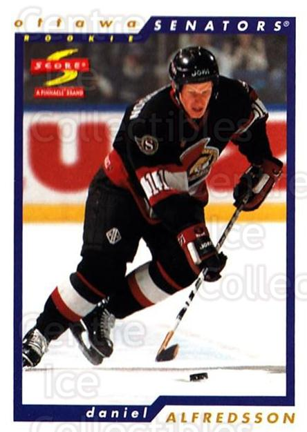 1996-97 Score #240 Daniel Alfredsson<br/>4 In Stock - $1.00 each - <a href=https://centericecollectibles.foxycart.com/cart?name=1996-97%20Score%20%23240%20Daniel%20Alfredss...&quantity_max=4&price=$1.00&code=157443 class=foxycart> Buy it now! </a>