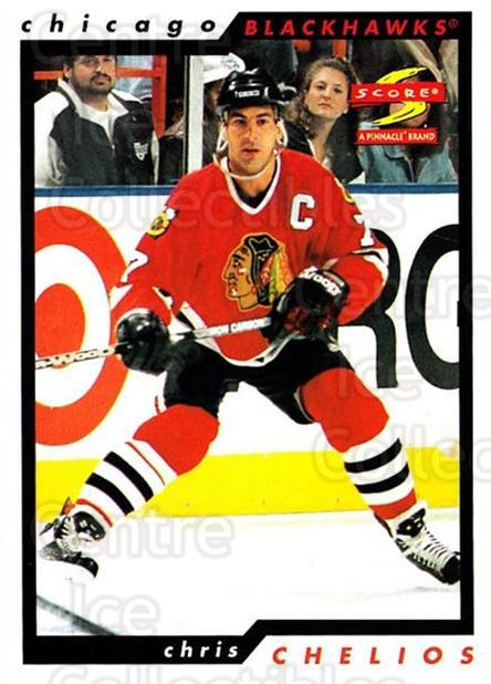 1996-97 Score #36 Chris Chelios<br/>4 In Stock - $1.00 each - <a href=https://centericecollectibles.foxycart.com/cart?name=1996-97%20Score%20%2336%20Chris%20Chelios...&quantity_max=4&price=$1.00&code=157479 class=foxycart> Buy it now! </a>