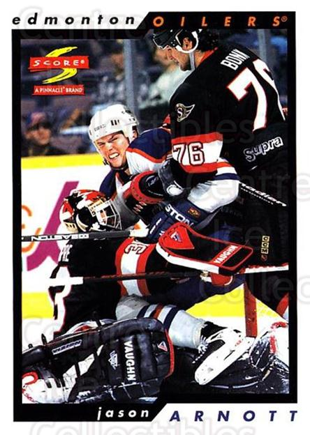 1996-97 Score #55 Jason Arnott<br/>5 In Stock - $1.00 each - <a href=https://centericecollectibles.foxycart.com/cart?name=1996-97%20Score%20%2355%20Jason%20Arnott...&quantity_max=5&price=$1.00&code=157497 class=foxycart> Buy it now! </a>