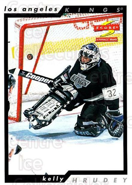 1996-97 Score #68 Kelly Hrudey<br/>4 In Stock - $1.00 each - <a href=https://centericecollectibles.foxycart.com/cart?name=1996-97%20Score%20%2368%20Kelly%20Hrudey...&quantity_max=4&price=$1.00&code=157508 class=foxycart> Buy it now! </a>