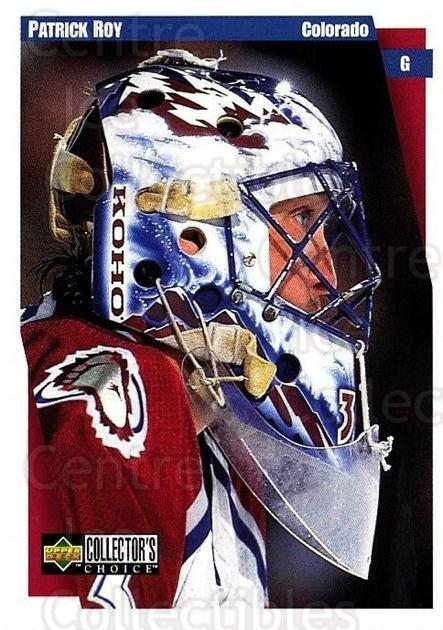 1997-98 Collectors Choice #56 Patrick Roy<br/>3 In Stock - $2.00 each - <a href=https://centericecollectibles.foxycart.com/cart?name=1997-98%20Collectors%20Choice%20%2356%20Patrick%20Roy...&quantity_max=3&price=$2.00&code=158207 class=foxycart> Buy it now! </a>