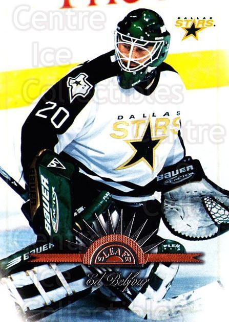 1997-98 Leaf #87 Ed Belfour<br/>4 In Stock - $1.00 each - <a href=https://centericecollectibles.foxycart.com/cart?name=1997-98%20Leaf%20%2387%20Ed%20Belfour...&price=$1.00&code=158380 class=foxycart> Buy it now! </a>