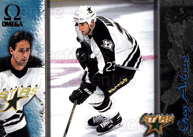1997-98 Omega Dark Grey #66 Greg Adams<br/>5 In Stock - $2.00 each - <a href=https://centericecollectibles.foxycart.com/cart?name=1997-98%20Omega%20Dark%20Grey%20%2366%20Greg%20Adams...&quantity_max=5&price=$2.00&code=158666 class=foxycart> Buy it now! </a>