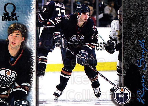 1997-98 Omega Dark Grey #95 Ryan Smyth<br/>5 In Stock - $2.00 each - <a href=https://centericecollectibles.foxycart.com/cart?name=1997-98%20Omega%20Dark%20Grey%20%2395%20Ryan%20Smyth...&quantity_max=5&price=$2.00&code=158694 class=foxycart> Buy it now! </a>