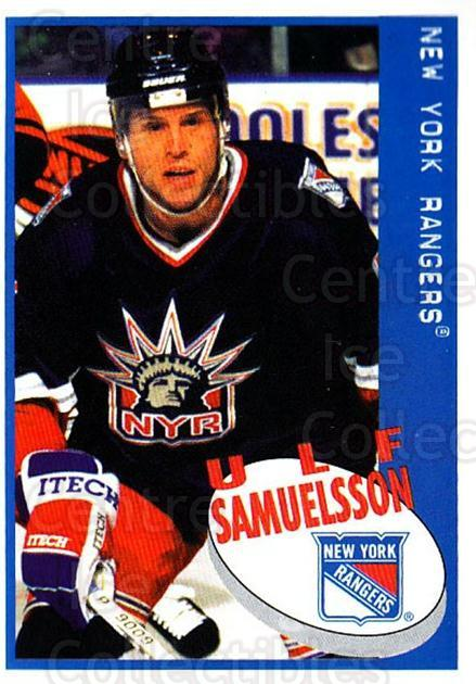 1997-98 Panini Stickers #88 Ulf Samuelsson<br/>4 In Stock - $1.00 each - <a href=https://centericecollectibles.foxycart.com/cart?name=1997-98%20Panini%20Stickers%20%2388%20Ulf%20Samuelsson...&quantity_max=4&price=$1.00&code=158931 class=foxycart> Buy it now! </a>