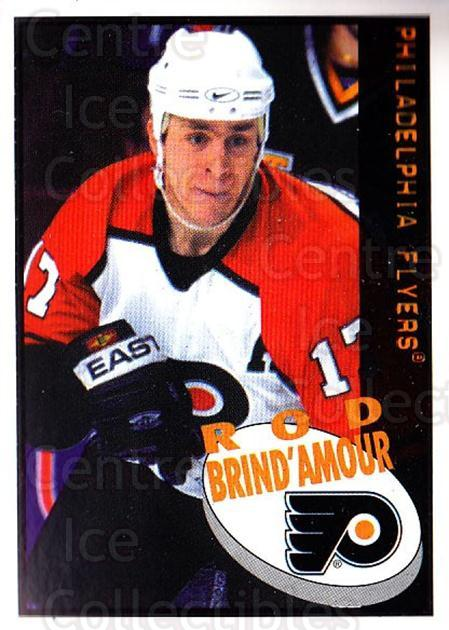 1997-98 Panini Stickers #93 Rod Brind'Amour<br/>4 In Stock - $1.00 each - <a href=https://centericecollectibles.foxycart.com/cart?name=1997-98%20Panini%20Stickers%20%2393%20Rod%20Brind'Amour...&quantity_max=4&price=$1.00&code=158937 class=foxycart> Buy it now! </a>