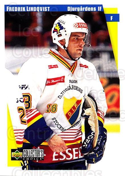 1997-98 Swedish Collectors Choice #45 Fredrik Lindquist<br/>6 In Stock - $2.00 each - <a href=https://centericecollectibles.foxycart.com/cart?name=1997-98%20Swedish%20Collectors%20Choice%20%2345%20Fredrik%20Lindqui...&price=$2.00&code=159048 class=foxycart> Buy it now! </a>