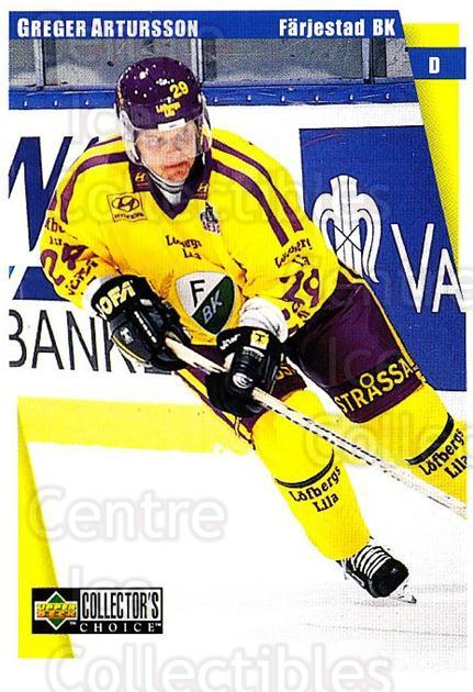 1997-98 Swedish Collectors Choice #56 Greger Artursson<br/>5 In Stock - $2.00 each - <a href=https://centericecollectibles.foxycart.com/cart?name=1997-98%20Swedish%20Collectors%20Choice%20%2356%20Greger%20Artursso...&quantity_max=5&price=$2.00&code=159059 class=foxycart> Buy it now! </a>