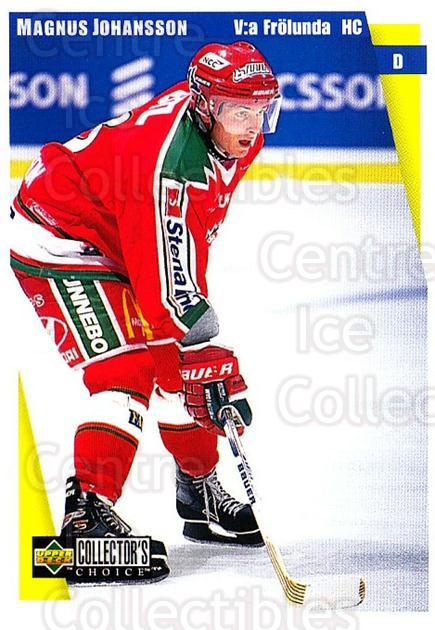 1997-98 Swedish Collectors Choice #73 Magnus Johansson<br/>4 In Stock - $2.00 each - <a href=https://centericecollectibles.foxycart.com/cart?name=1997-98%20Swedish%20Collectors%20Choice%20%2373%20Magnus%20Johansso...&quantity_max=4&price=$2.00&code=159078 class=foxycart> Buy it now! </a>