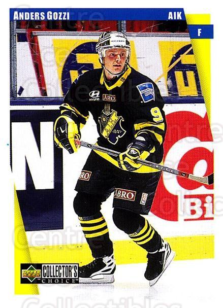 1997-98 Swedish Collectors Choice #9 Anders Gozzi<br/>9 In Stock - $2.00 each - <a href=https://centericecollectibles.foxycart.com/cart?name=1997-98%20Swedish%20Collectors%20Choice%20%239%20Anders%20Gozzi...&quantity_max=9&price=$2.00&code=159096 class=foxycart> Buy it now! </a>
