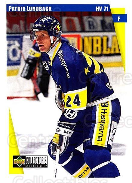 1997-98 Swedish Collectors Choice #95 Patrik Lundback<br/>12 In Stock - $2.00 each - <a href=https://centericecollectibles.foxycart.com/cart?name=1997-98%20Swedish%20Collectors%20Choice%20%2395%20Patrik%20Lundback...&price=$2.00&code=159102 class=foxycart> Buy it now! </a>