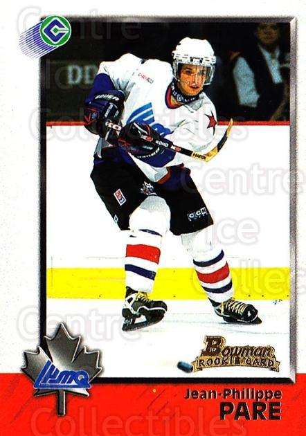 1998 Bowman CHL #94 Jean-Philippe Pare<br/>10 In Stock - $1.00 each - <a href=https://centericecollectibles.foxycart.com/cart?name=1998%20Bowman%20CHL%20%2394%20Jean-Philippe%20P...&quantity_max=10&price=$1.00&code=159114 class=foxycart> Buy it now! </a>