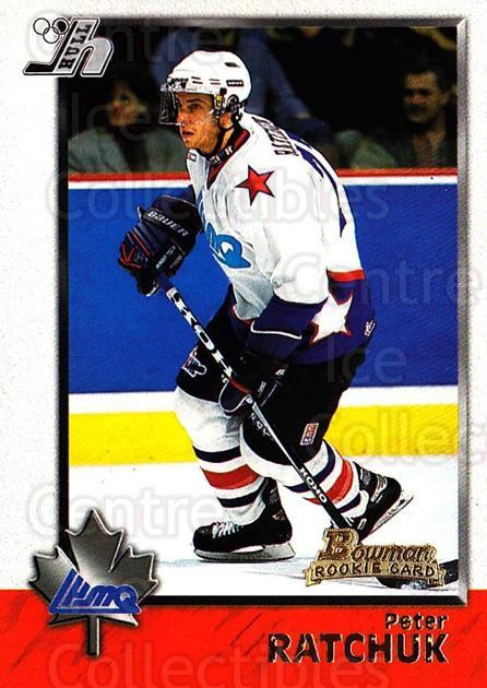 1998 Bowman CHL #99 Peter Ratchuk<br/>3 In Stock - $1.00 each - <a href=https://centericecollectibles.foxycart.com/cart?name=1998%20Bowman%20CHL%20%2399%20Peter%20Ratchuk...&quantity_max=3&price=$1.00&code=159118 class=foxycart> Buy it now! </a>