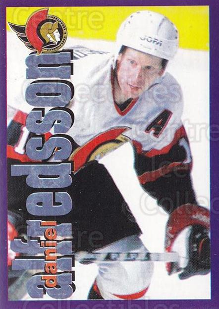 1998-99 Panini Stickers #42 Daniel Alfredsson<br/>6 In Stock - $1.00 each - <a href=https://centericecollectibles.foxycart.com/cart?name=1998-99%20Panini%20Stickers%20%2342%20Daniel%20Alfredss...&quantity_max=6&price=$1.00&code=159499 class=foxycart> Buy it now! </a>
