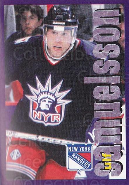1998-99 Panini Stickers #85 Ulf Samuelsson<br/>5 In Stock - $1.00 each - <a href=https://centericecollectibles.foxycart.com/cart?name=1998-99%20Panini%20Stickers%20%2385%20Ulf%20Samuelsson...&quantity_max=5&price=$1.00&code=159543 class=foxycart> Buy it now! </a>