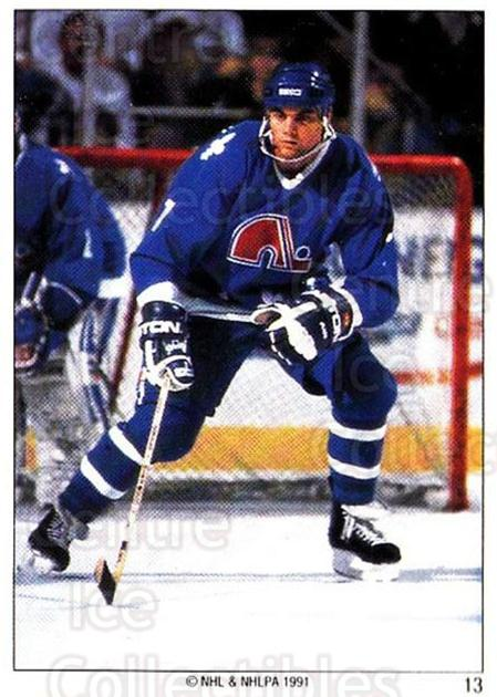 1991 Quebec Nordiques Panini Team Stickers #13 Curtis Leschyshyn<br/>3 In Stock - $3.00 each - <a href=https://centericecollectibles.foxycart.com/cart?name=1991%20Quebec%20Nordiques%20Panini%20Team%20Stickers%20%2313%20Curtis%20Leschysh...&quantity_max=3&price=$3.00&code=15956 class=foxycart> Buy it now! </a>