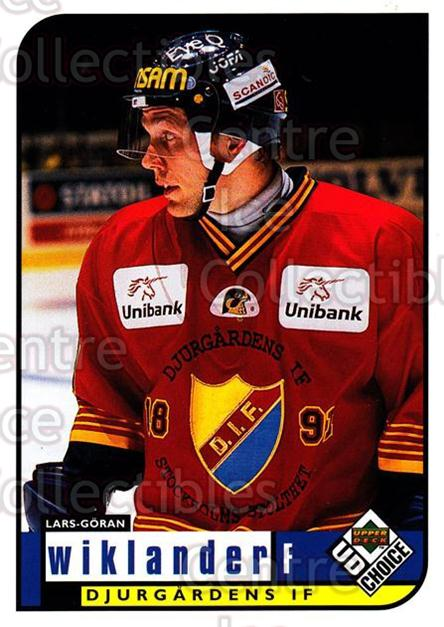 1998-99 Swedish UD Choice #60 Lars-Goran Wiklander<br/>9 In Stock - $2.00 each - <a href=https://centericecollectibles.foxycart.com/cart?name=1998-99%20Swedish%20UD%20Choice%20%2360%20Lars-Goran%20Wikl...&price=$2.00&code=159590 class=foxycart> Buy it now! </a>