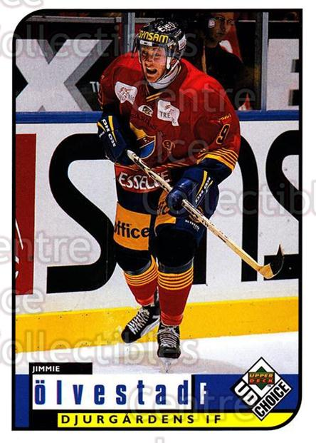 1998-99 Swedish UD Choice #65 Jimmie Olvestad<br/>8 In Stock - $2.00 each - <a href=https://centericecollectibles.foxycart.com/cart?name=1998-99%20Swedish%20UD%20Choice%20%2365%20Jimmie%20Olvestad...&price=$2.00&code=159595 class=foxycart> Buy it now! </a>