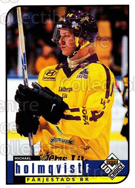 1998-99 Swedish UD Choice #96 Michael Holmqvist<br/>8 In Stock - $2.00 each - <a href=https://centericecollectibles.foxycart.com/cart?name=1998-99%20Swedish%20UD%20Choice%20%2396%20Michael%20Holmqvi...&quantity_max=8&price=$2.00&code=159629 class=foxycart> Buy it now! </a>