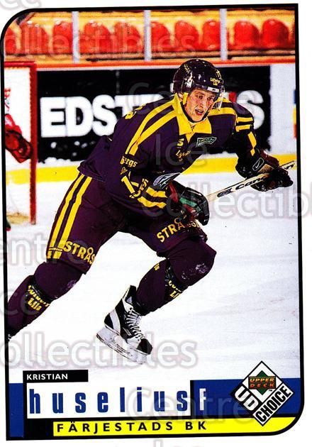1998-99 Swedish UD Choice #98 Kristian Huselius<br/>10 In Stock - $2.00 each - <a href=https://centericecollectibles.foxycart.com/cart?name=1998-99%20Swedish%20UD%20Choice%20%2398%20Kristian%20Huseli...&quantity_max=10&price=$2.00&code=159631 class=foxycart> Buy it now! </a>