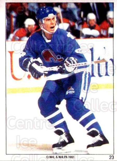 1991 Quebec Nordiques Panini Team Stickers #23 Randy Velischek<br/>4 In Stock - $3.00 each - <a href=https://centericecollectibles.foxycart.com/cart?name=1991%20Quebec%20Nordiques%20Panini%20Team%20Stickers%20%2323%20Randy%20Velischek...&quantity_max=4&price=$3.00&code=15965 class=foxycart> Buy it now! </a>
