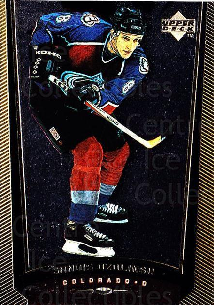 1998-99 Upper Deck Gold Reserve #250 Sandis Ozolinsh<br/>5 In Stock - $1.00 each - <a href=https://centericecollectibles.foxycart.com/cart?name=1998-99%20Upper%20Deck%20Gold%20Reserve%20%23250%20Sandis%20Ozolinsh...&quantity_max=5&price=$1.00&code=159662 class=foxycart> Buy it now! </a>