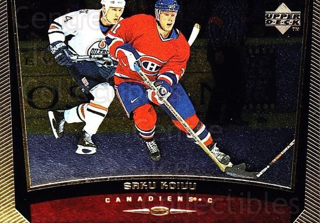 1998-99 Upper Deck Gold Reserve #290 Saku Koivu<br/>3 In Stock - $1.00 each - <a href=https://centericecollectibles.foxycart.com/cart?name=1998-99%20Upper%20Deck%20Gold%20Reserve%20%23290%20Saku%20Koivu...&quantity_max=3&price=$1.00&code=159701 class=foxycart> Buy it now! </a>