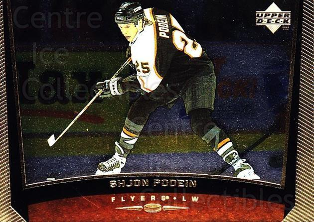 1998-99 Upper Deck Gold Reserve #337 Shjon Podein<br/>6 In Stock - $1.00 each - <a href=https://centericecollectibles.foxycart.com/cart?name=1998-99%20Upper%20Deck%20Gold%20Reserve%20%23337%20Shjon%20Podein...&quantity_max=6&price=$1.00&code=159748 class=foxycart> Buy it now! </a>