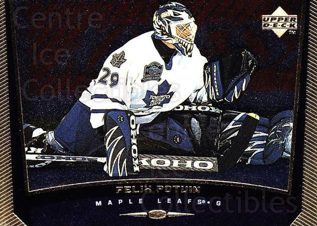 1998-99 Upper Deck Gold Reserve #371 Felix Potvin<br/>2 In Stock - $1.00 each - <a href=https://centericecollectibles.foxycart.com/cart?name=1998-99%20Upper%20Deck%20Gold%20Reserve%20%23371%20Felix%20Potvin...&quantity_max=2&price=$1.00&code=159781 class=foxycart> Buy it now! </a>