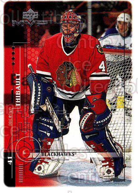 1998-99 Upper Deck MVP #42 Jocelyn Thibault<br/>14 In Stock - $1.00 each - <a href=https://centericecollectibles.foxycart.com/cart?name=1998-99%20Upper%20Deck%20MVP%20%2342%20Jocelyn%20Thibaul...&quantity_max=14&price=$1.00&code=159895 class=foxycart> Buy it now! </a>