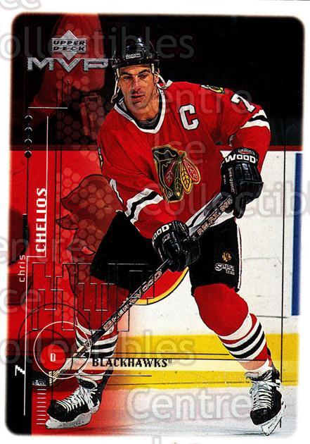 1998-99 Upper Deck MVP #44 Chris Chelios<br/>14 In Stock - $1.00 each - <a href=https://centericecollectibles.foxycart.com/cart?name=1998-99%20Upper%20Deck%20MVP%20%2344%20Chris%20Chelios...&quantity_max=14&price=$1.00&code=159897 class=foxycart> Buy it now! </a>