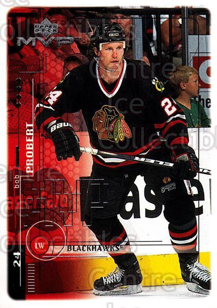 1998-99 Upper Deck MVP #46 Bob Probert<br/>11 In Stock - $1.00 each - <a href=https://centericecollectibles.foxycart.com/cart?name=1998-99%20Upper%20Deck%20MVP%20%2346%20Bob%20Probert...&quantity_max=11&price=$1.00&code=159899 class=foxycart> Buy it now! </a>