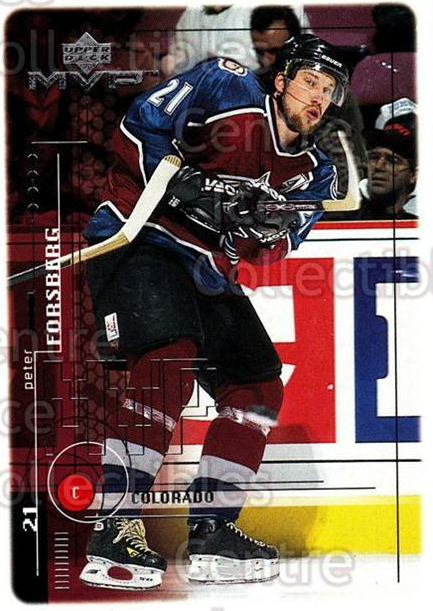 1998-99 Upper Deck MVP #51 Peter Forsberg<br/>13 In Stock - $1.00 each - <a href=https://centericecollectibles.foxycart.com/cart?name=1998-99%20Upper%20Deck%20MVP%20%2351%20Peter%20Forsberg...&quantity_max=13&price=$1.00&code=159905 class=foxycart> Buy it now! </a>