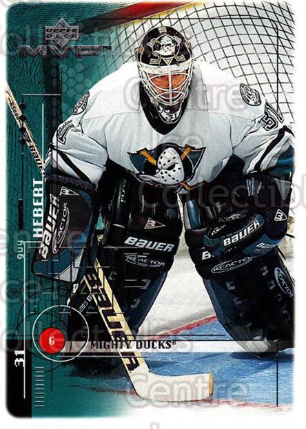 1998-99 Upper Deck MVP #6 Guy Hebert<br/>13 In Stock - $1.00 each - <a href=https://centericecollectibles.foxycart.com/cart?name=1998-99%20Upper%20Deck%20MVP%20%236%20Guy%20Hebert...&quantity_max=13&price=$1.00&code=159913 class=foxycart> Buy it now! </a>