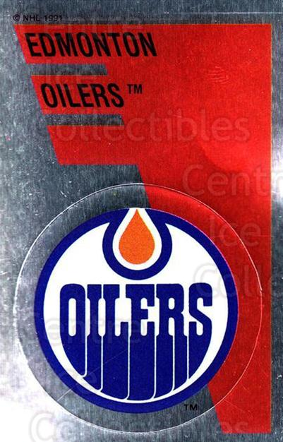 1991-92 Panini Stickers #154 Edmonton Oilers<br/>7 In Stock - $1.00 each - <a href=https://centericecollectibles.foxycart.com/cart?name=1991-92%20Panini%20Stickers%20%23154%20Edmonton%20Oilers...&quantity_max=7&price=$1.00&code=16004 class=foxycart> Buy it now! </a>