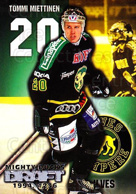 1999-00 Finnish Cardset #253 Tommi Miettinen<br/>12 In Stock - $2.00 each - <a href=https://centericecollectibles.foxycart.com/cart?name=1999-00%20Finnish%20Cardset%20%23253%20Tommi%20Miettinen...&quantity_max=12&price=$2.00&code=160224 class=foxycart> Buy it now! </a>