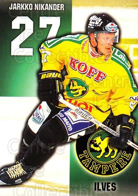 1999-00 Finnish Cardset #254 Jarkko Nikander<br/>11 In Stock - $2.00 each - <a href=https://centericecollectibles.foxycart.com/cart?name=1999-00%20Finnish%20Cardset%20%23254%20Jarkko%20Nikander...&quantity_max=11&price=$2.00&code=160225 class=foxycart> Buy it now! </a>