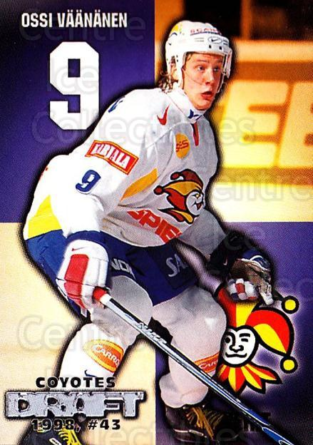 1999-00 Finnish Cardset #259 Ossi Vaananen<br/>5 In Stock - $2.00 each - <a href=https://centericecollectibles.foxycart.com/cart?name=1999-00%20Finnish%20Cardset%20%23259%20Ossi%20Vaananen...&price=$2.00&code=160230 class=foxycart> Buy it now! </a>