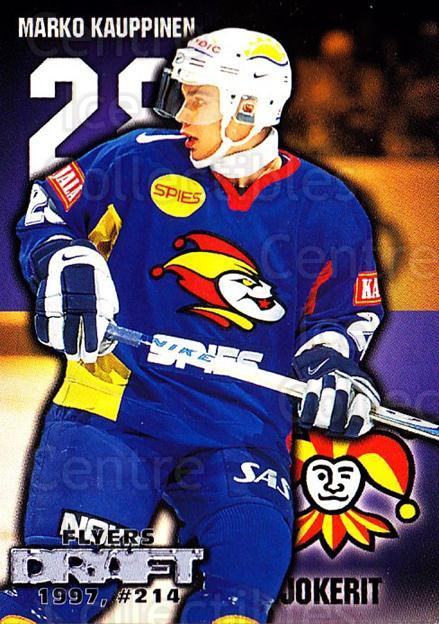 1999-00 Finnish Cardset #261 Marko Kauppinen<br/>10 In Stock - $2.00 each - <a href=https://centericecollectibles.foxycart.com/cart?name=1999-00%20Finnish%20Cardset%20%23261%20Marko%20Kauppinen...&price=$2.00&code=160233 class=foxycart> Buy it now! </a>
