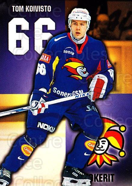 1999-00 Finnish Cardset #263 Tom Koivisto<br/>9 In Stock - $2.00 each - <a href=https://centericecollectibles.foxycart.com/cart?name=1999-00%20Finnish%20Cardset%20%23263%20Tom%20Koivisto...&price=$2.00&code=160235 class=foxycart> Buy it now! </a>