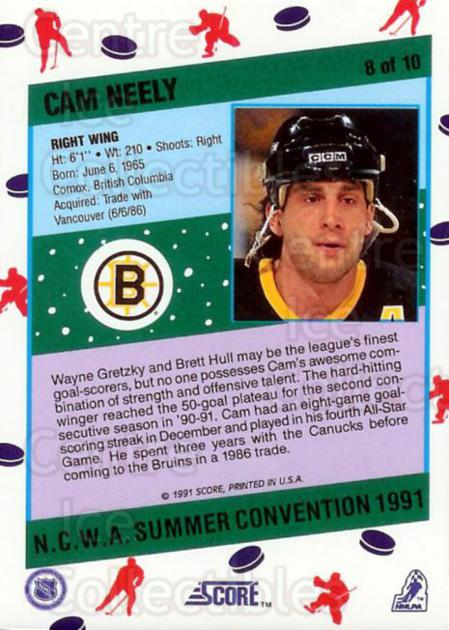 1991 Score NCWA Convention #8 Cam Neely<br/>13 In Stock - $2.00 each - <a href=https://centericecollectibles.foxycart.com/cart?name=1991%20Score%20NCWA%20Convention%20%238%20Cam%20Neely...&quantity_max=13&price=$2.00&code=16023 class=foxycart> Buy it now! </a>