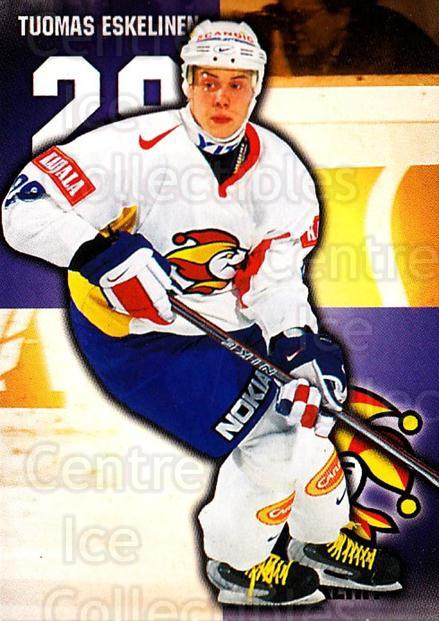 1999-00 Finnish Cardset #269 Tuomas Eskelinen<br/>8 In Stock - $2.00 each - <a href=https://centericecollectibles.foxycart.com/cart?name=1999-00%20Finnish%20Cardset%20%23269%20Tuomas%20Eskeline...&price=$2.00&code=160241 class=foxycart> Buy it now! </a>
