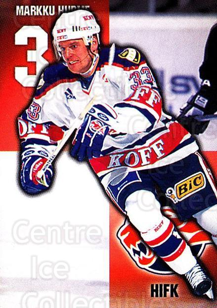 1999-00 Finnish Cardset #27 Markku Hurme<br/>7 In Stock - $2.00 each - <a href=https://centericecollectibles.foxycart.com/cart?name=1999-00%20Finnish%20Cardset%20%2327%20Markku%20Hurme...&quantity_max=7&price=$2.00&code=160242 class=foxycart> Buy it now! </a>