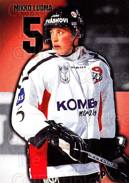 1999-00 Finnish Cardset #273 Mikko Luoma<br/>10 In Stock - $2.00 each - <a href=https://centericecollectibles.foxycart.com/cart?name=1999-00%20Finnish%20Cardset%20%23273%20Mikko%20Luoma...&price=$2.00&code=160245 class=foxycart> Buy it now! </a>